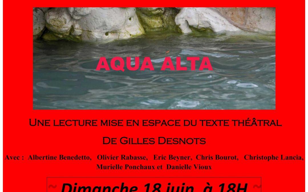 Reprise d'Aqua Alta  Marseille 18 juin 2017 18h