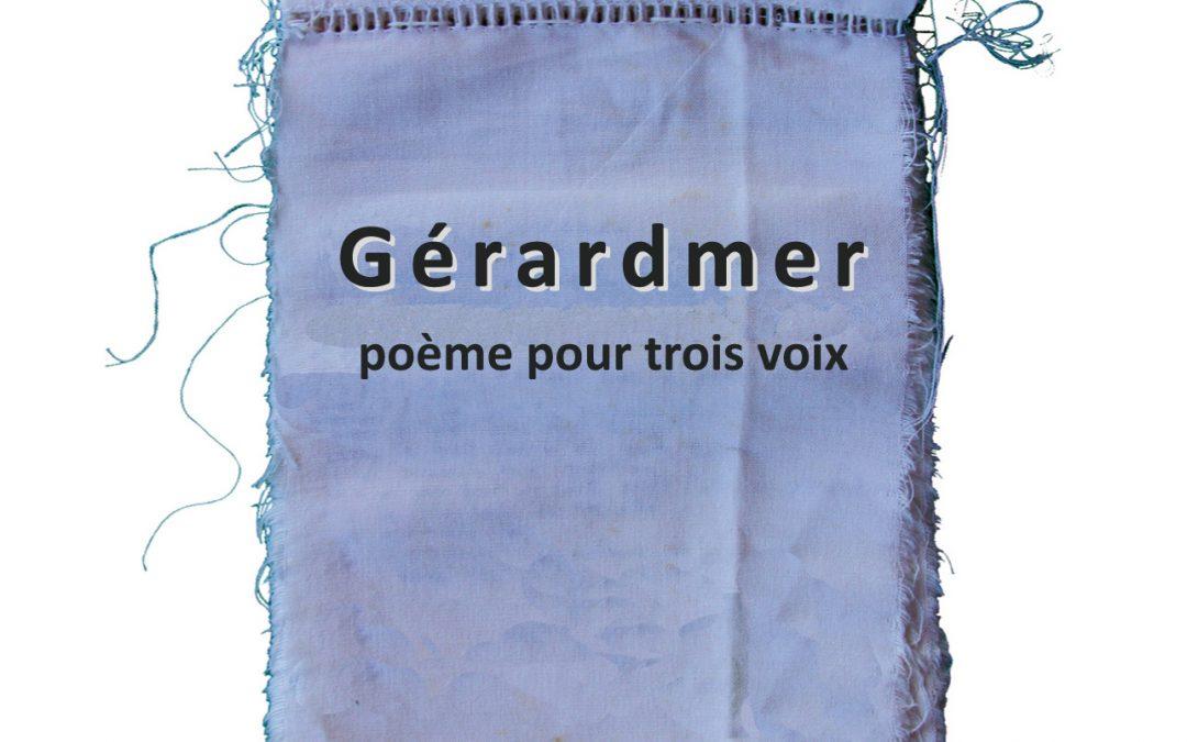 PARUTION DU POÈME GÉRARDMER